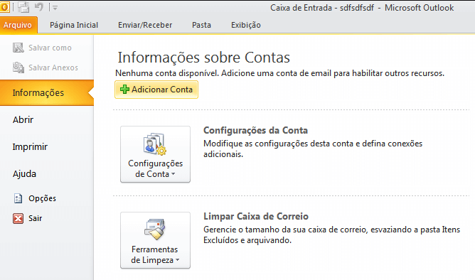 Como configurar Outlook 2010?
